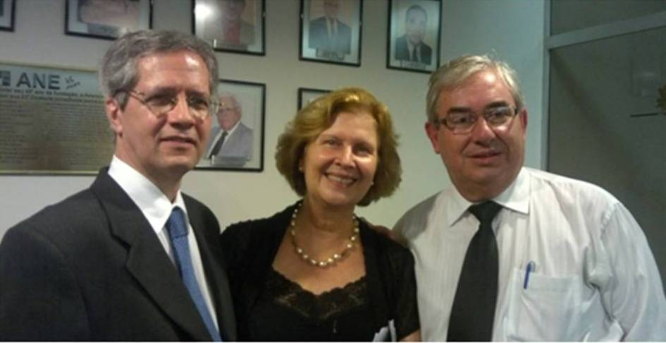 Fabio de Sousa Coutinho, Presidente da Associação Nacional de Escritores, escritores Margarida Patriota e Salomão Sousa